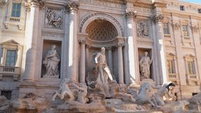 The Trevi Fountain is a fountain in the Trevi district in Rome. Italy stock footage