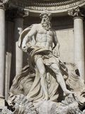 Trevi Fountain God Royalty Free Stock Photos