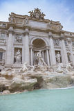 Trevi fountain important traveling destination in rome italy Royalty Free Stock Photography