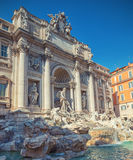 Trevi Fountain. Inspired by Roman triumphal arches in Rome stock images