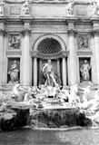 Trevi Fountain - Italy. The Trevi Fountain in Rome, Italy, designed by Nicola Salvi and Pietro Bracci Royalty Free Stock Image