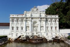 Trevi Fountain at Mini Siam miniature park attraction. royalty free stock images