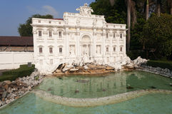 Trevi fountain in Mini Siam Park Royalty Free Stock Photos