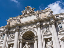The Trevi Fountain newly restored in Rome Italy. The Trevi Fountain was finished in 1762 and was designed by Nicola Salvi. It is believed that if you throw a Royalty Free Stock Image