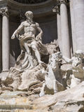 The Trevi Fountain newly restored in Rome Italy. The Trevi Fountain was finished in 1762 and was designed by Nicola Salvi. It is believed that if you throw a Stock Photography