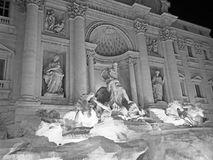 The Trevi Fountain at Night Royalty Free Stock Images