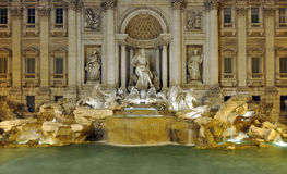 Trevi Fountain at night in Rome, Italy Stock Photography