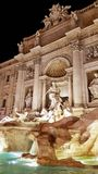 Trevi Fountain at night in Rome stock photography