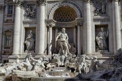 The Trevi Fountain, Oceanus, hippocamp stock photos