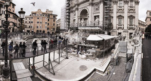 Trevi Fountain during renovation, Roma, Italy Royalty Free Stock Image