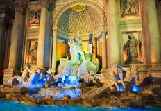 Trevi Fountain replica, Caesars Palace, Las Vegas Royalty Free Stock Photo