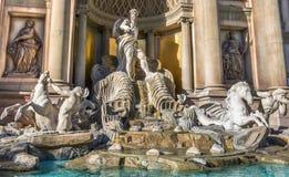Trevi fountain replica at Caesars Palace,Las Vegas Stock Photos