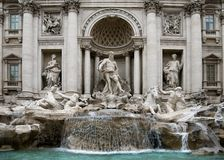 The Trevi Fountain - Rome Stock Photo
