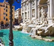 Trevi Fountain in Rome Stock Image