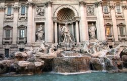 Trevi fountain Rome Stock Photography