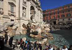 Trevi Fountain.Rome Stock Foto's