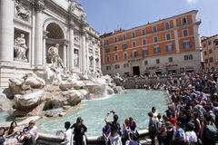 Trevi fountain in Rome Stock Photos