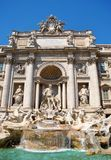 Trevi fountain in Rome. The Trevi Fountain is a fountain in the Trevi district in Romet ise largest Baroque fountain in the city and one of the most famous Stock Photography