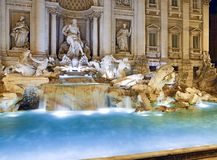 Trevi Fountain, Rome. Beautiful night image of the eternal city Stock Image