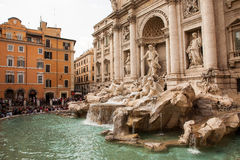 Trevi Fountain in Rome. Italy. One of Rome s most famous fountains stock photo