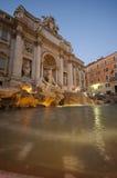 Trevi Fountain Rome. The Trevi Fountain Rome at dusk Royalty Free Stock Photography