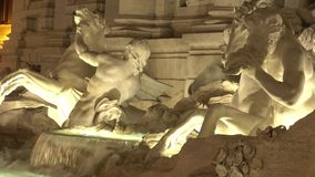 Trevi Fountain in Rome - beautiful night view. Videoclip stock video footage