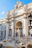 Trevi Fountain in Rome city Royalty Free Stock Photo