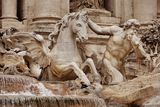 Trevi Fountain Rome Stock Photo