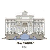 Trevi Fountain, Rome Stock Image