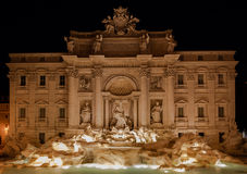 Trevi Fountain in Rome. The Trevi Fountain is a fountain in the Trevi district in Rome, Italy, designed by Italian architect Nicola Salvi and completed by Pietro Royalty Free Stock Photography