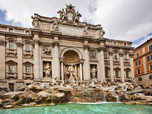 Trevi Fountain, Rome Italy Stock Photos