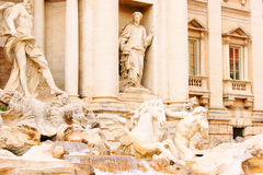 Trevi Fountain. In Rome Italy Stock Photo