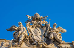 Trevi Fountain Rome, Italy. Detail of Trevi Fountain, Rome, Italy Stock Images