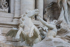 Trevi Fountain Rome, Italy. Detail of Trevi Fountain, Rome, Italy Royalty Free Stock Images