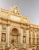 Trevi Fountain in Rome in Italy Stock Photo