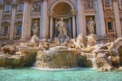 Trevi Fountain, Rome, Italy. The Trevi Fountain is a fountain in the Trevi district in Rome, Italy Stock Photography