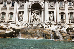 Trevi Fountain, Rome, Italy. Flowing water at the Trevi Fountain, Rome, Italy Royalty Free Stock Image