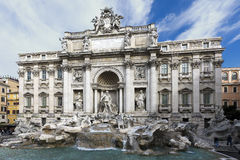 The Trevi Fountain in Rome, Italy. The Trevi Fountain Fontana di Trevi is a fountain in the Trevi district in Rome, Italy, designed by Italian architect Nicola Royalty Free Stock Photos