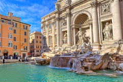 Trevi Fountain. Rome, Italy. Royalty Free Stock Image