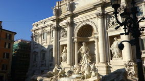 Trevi Fountain Rome Italy. Rome, Italy - 2015 Nov: Trevi Fountain Rome Italy stock footage