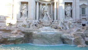 Trevi Fountain Rome Italy. Panoramic stock footage