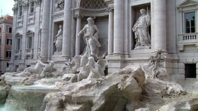 Trevi Fountain in Rome Italy. Panoramic view Trevi Fountain in Rome Italy stock video