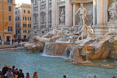 Trevi fountain, Rome, Italy Stock Images