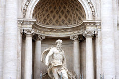 Trevi Fountain Rome Italy. Sculpture Trevi Fountain in Rome Italy Royalty Free Stock Image