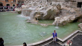 The Trevi Fountain in Rome, Italy stock footage