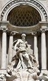 Trevi fountain, Rome, Italy. Statue in the Oceanus in the Trevi Fountain of Rome, Italy Stock Photo