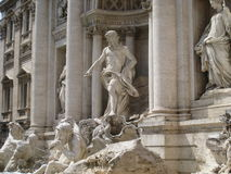 Trevi fountain, Rome, Italy. Statues above the trevi fountain in Rome, Italy Royalty Free Stock Photography