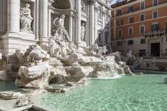 Trevi Fountain, Rome, Italy. Trevi Fountain sunny day Rome, Italy Royalty Free Stock Photo