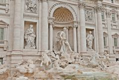 Trevi Fountain, Rome, Italy. The Trevi Fountain is a fountain in the Trevi district in Rome, Italy, designed by Italian architect Nicola Salvi and completed by Stock Photo