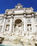 The Trevi Fountain in Rome, Italy. An upclose view of the historical Trevi Fountain in Rome Italy Stock Photos